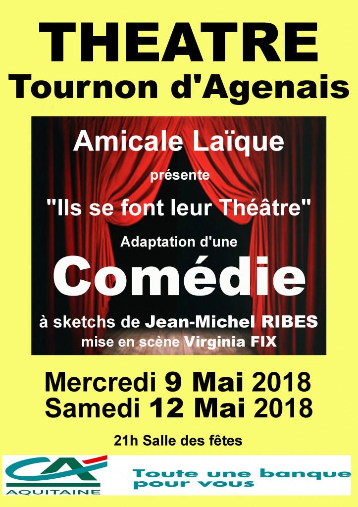 affiche Tournon d'agenais 9 12 mai 2018